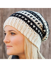 Dotted Stripes Hat Crochet Pattern
