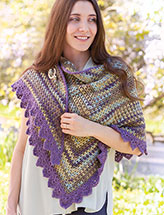 Hint of Spring Wrap Crochet Pattern