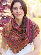 Autumn Days Shawlette Crochet Pattern