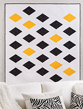 Yellow Stones Wall Quilt