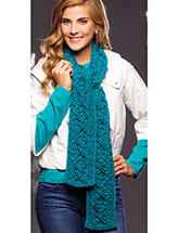 Crazy for Cables Scarf Pattern
