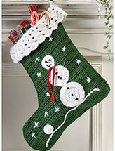 Snowman Stocking Pattern
