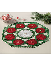 Poinsettia Bouquet Doily Pattern