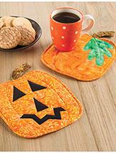 Pumpkin Panache Mug Rugs Pattern