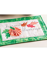 Harvest Blessings Mug Rug Pattern