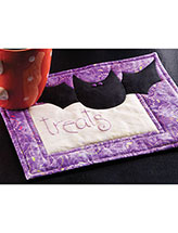 Bat Treats Halloween Mug Rug Pattern
