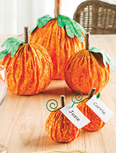 Pumpkin Centerpiece & Name-Card Holders Pattern