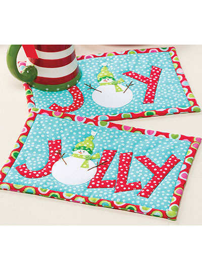 Let's Be Jolly Mug Rugs Pattern