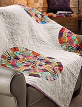 Scattered Dresdens Lap Quilt Pattern