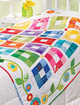 Color Therapy Throw Quilt Pattern