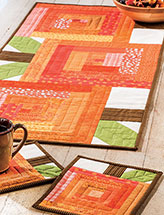 Pumpkin Patch Runner & Mug Rugs Kitchen Set