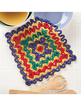 Concentric Squares Dishcloth