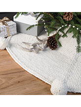 Snowfall Tree Skirt Knitting Pattern