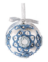 Sequin Delight Ornament Crochet Pattern