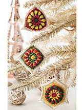 Holiday Trio Ornaments Crochet Pattern