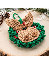 Merry Chris Moose Ornament Crochet Pattern