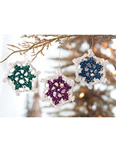 Colorful Snowflakes Ornaments Crochet Pattern