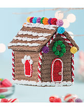 Gingerbread House Ornament Crochet Pattern