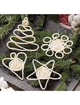 Christmas Wishes Ornaments Crochet Pattern