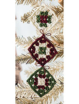 Square As Diamonds Ornament Crochet Pattern