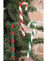 Candy-Cane Ornament Crochet Pattern