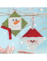 Quilt Block Buddies Ornaments Pattern