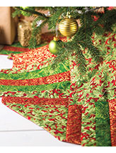 Holly & Poinsettias Tree Skirt