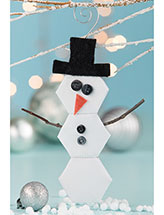 2-Sided Hexagon Snowman Ornament Pattern