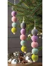 Felted Wool Ball Icicle Ornament Pattern