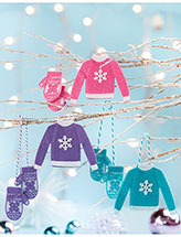 Colorful Mitts & Sweaters Ornaments Pattern