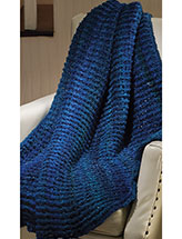 Blue Throw Crochet Pattern
