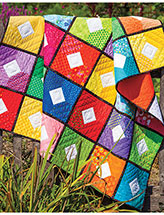 Paint Box Squares Lap Quilt