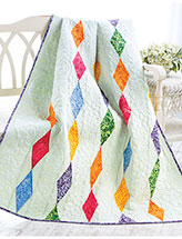 Dripping Diamonds Lap Quilt