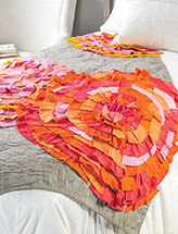 Ragged Mums Bed Quilt