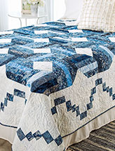 Blue Moon Bed Quilt
