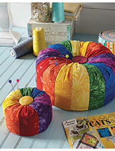 Bright Stripes Pincushions