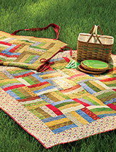Quilted Picnic Blanket Tote