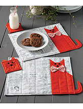 Cat Chow Place Mat & Coaster Set Quilt Pattern