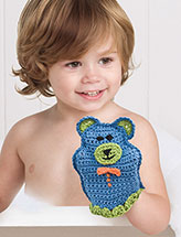 Teddy Bear Bath Mitt Crochet Pattern