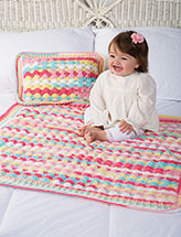 Bubbles Blanket & Pillow Crochet Pattern