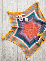 Rainbow Star Baby Blanket Crochet Pattern