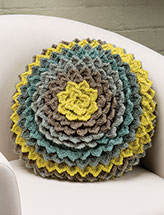 Layers of Leaves Pillow Crochet Pattern