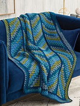 Slanted Stripes Throw Crochet Pattern