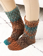 Chunky Slipper Socks Crochet Pattern