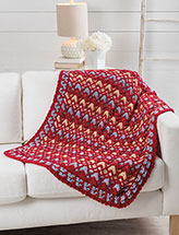 Indigo Chevron Throw Crochet Pattern