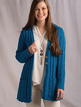Blueberry Tea Cardigan Knit Pattern