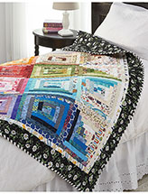 Rainbow Log Cabin Quilt Pattern