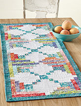 Leafy Logs Table Runner Quilt Pattern