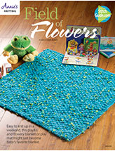 Field of Flowers Baby Blanket Knit Pattern