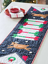 Up on the Rooftop Table Runner Quilt Pattern